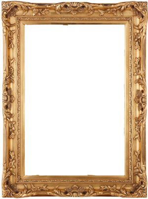 "4"" ANTIQUE GOLD SWEPT FRAME"