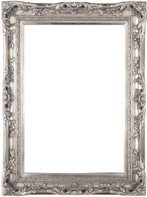 "4"" ANTIQUE SILVER SWEPT FRAME"