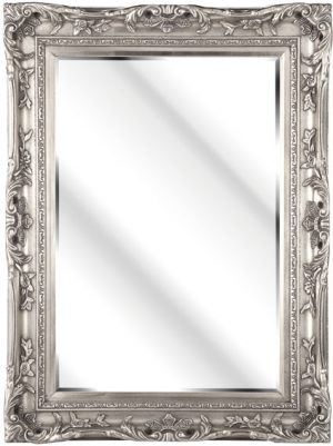 "4"" ANTIQUE SILVER SWEPT FRAME WITH MIRROR"