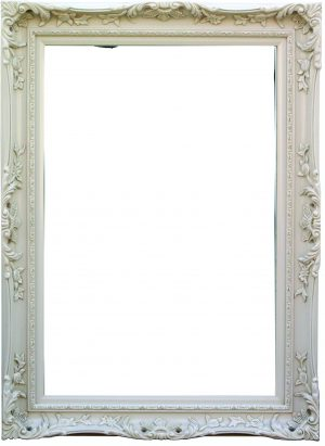 "4"" ANTIQUE IVORY SWEPT FRAME"