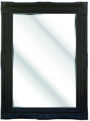 "4"" BLACK SWEPT FRAME WITH MIRROR"