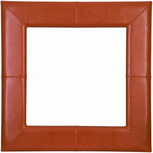915X610MM,175MM WIDE TAN LEATHER STITCHED SWEPT