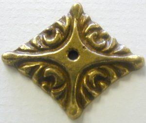 BRASS DECOR 1.1/2 X 1 DIAMOND DECORATION