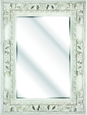 """7"""" IVORY PANELLED ORNAMENTAL WITH CLOVER LEAF"""