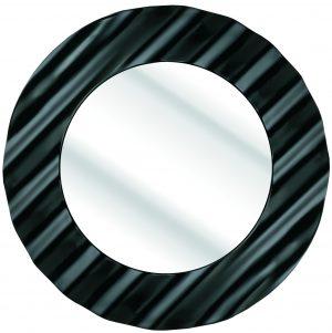 "6"" CIRCULAR BLACK GLOSS RIPPLE"