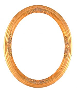 """5""""X3.1/2"""" ORNATE GOLD OVAL (1"""" SECTION)"""