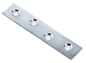 STRAIGHT PIECE REPAIR PLATE 75mm steel Z.P.