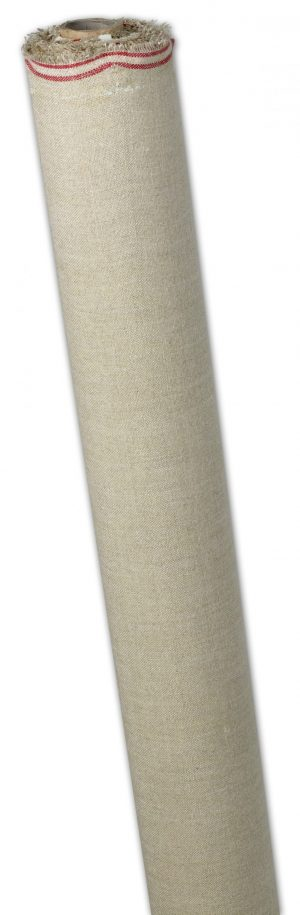 "6yds (5.49mtrs) x 54"" (1.37mtrs) Linen Oil Primed Kent Quality Canvas Roll"