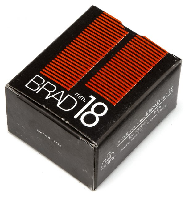 18MM BRADS FOR HAND GUN (B0X 5,000)