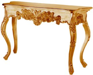 Rococco Style Gold Consort Table