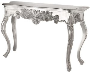 Rococco Style Silver Consort Table