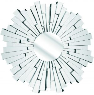 MULTI OVERLAPPED GLASS BEVELLED ART DECO CIRCLE